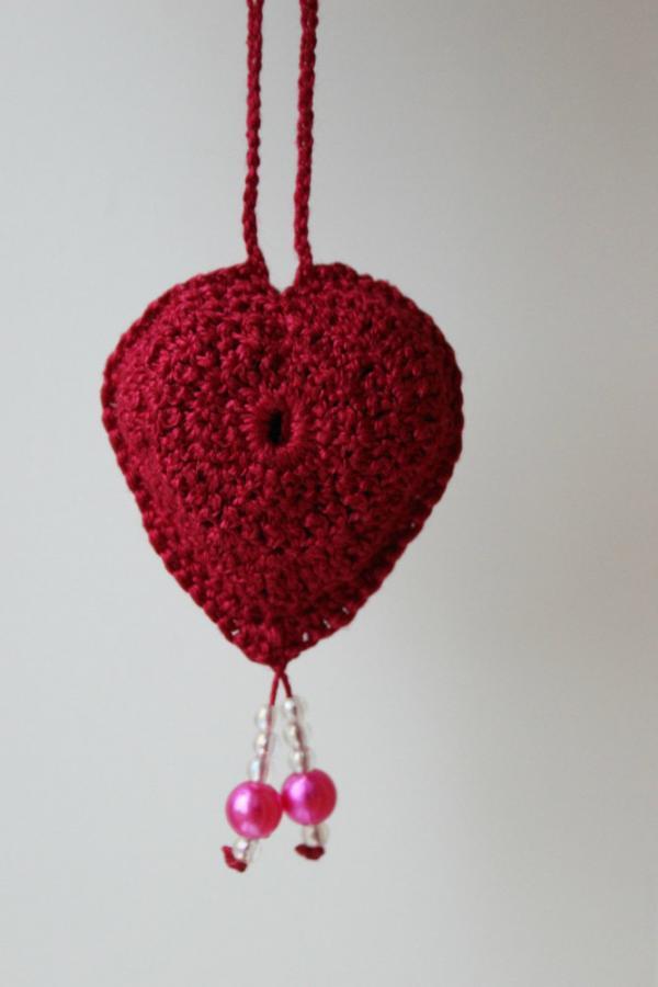 Связать сердечко игрушку 94