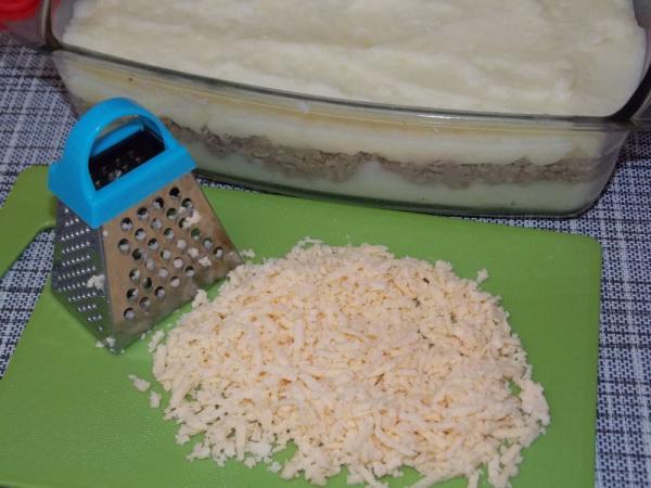 Запеканка из печени под картофельной шубой - рецепт пошаговый с фото