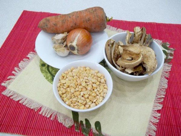 Картинки по запросу гороховый суп с грибами