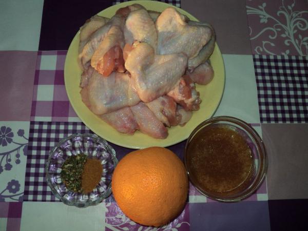 Рецепт крылышки в медово апельсиновом соусе