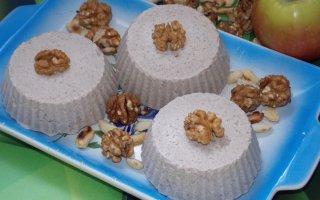 Диетическое пирожное из творога и овсянки