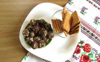 Шоколадно-ореховое печенье без выпечки